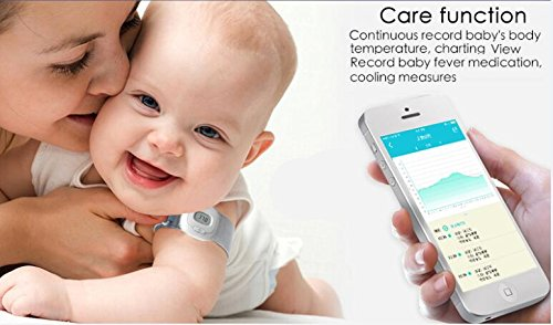 Camonity iSee Electronic Bluetooth Smart Baby Thermometer Health Care Children Intelligent Wearable Baby Monitor with Alarm
