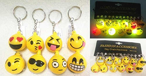 2 Flashing Smile Face Keychain 1DZ(STYLE MAY VARY) by LVNV