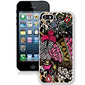 Easy Use Betsey Johnson 16 Case For Iphone 5/5S Cover S Generation Cell Phone Case in White