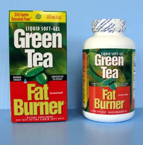 Applied Nutrition Green Tea Fat Burner with EGCG Single & Multi Pack (Two Bottles each of 200 Soft-Gels) by FAT BURNER (Image #2)