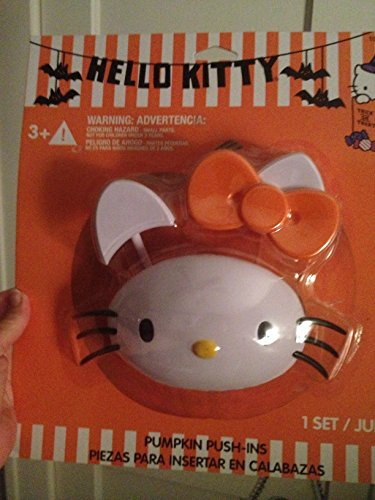 [Hello Kitty Pumpkin Push-ins - Pumpkin Decorating Kit - Ages 3+ by Gemmy] (Easy Scary Costumes)