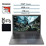 Lenovo Ideapad Premium 15.6' Laptop Notebook Computer 2019 New, AMD A9-9425 Up to 3.7GHz, 8GB RAM, 1TB HDD, DVD-RW, Wi-Fi, Bluetooth, Webcam, USB 3.0, HDMI, Windows 10 W/ 29.9 Value Accessories Bundle