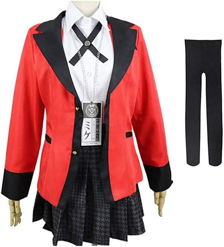 S FINDPITAYA D/éguisement Jabami Yumeko Uniforme Scolaire Halloween Noel Party Adulte Cosplay Costume