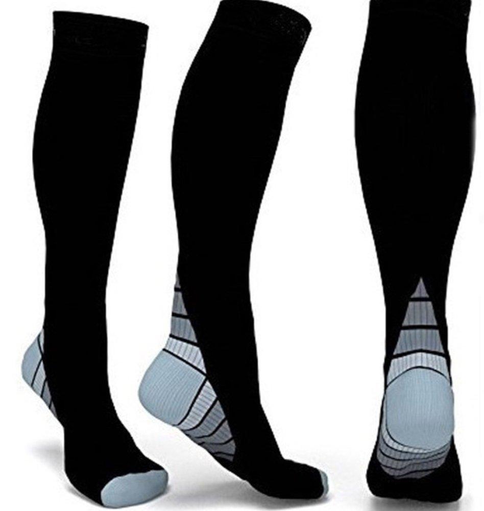 Calze per la compressione da 2 paia per la circolazione sportiva Flight Infermiere Football & Recovery (Uomini e Donne) -3 Colori AHAHA