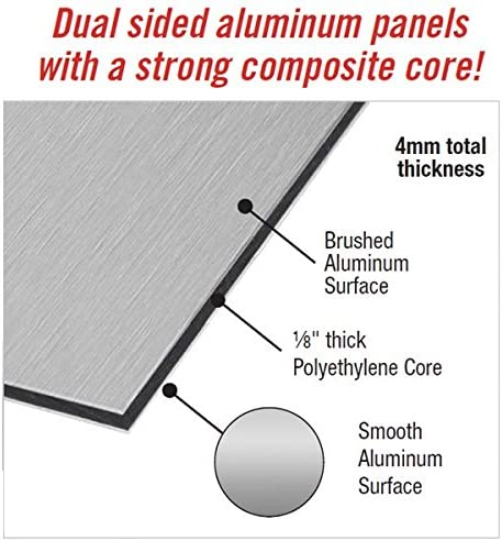 AlumaComp Panels Professional Artists Unprimed Aluminum Metal Canvas Board for Painting or Mounting Brushed /& Polished - Size 4x6 Acid Free 100/% Archival Quality- Sturdy Double Sided