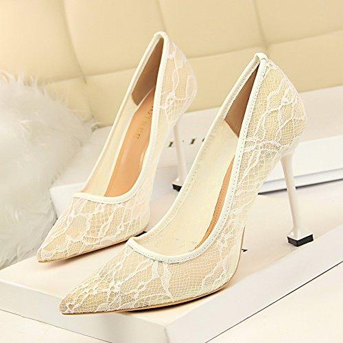 GAOLIM A La Luz De El Negro El Color De La Pasta Expuesta Matrimonio Zapatos Dama Zapatos Con Punta Fina Con Singles Femeninos Zapatos Zapatos De Tacón Blanco