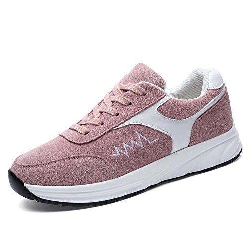 Zapatillas de Deporte de Las Mujeres Zapatos Corrientes de la Primavera Zapatos Planos de la caída de la Primavera Zapatos (Color : Rosado, tamaño : 34)