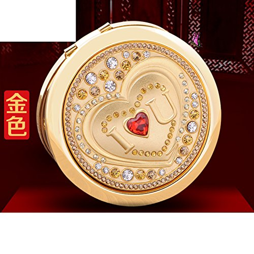 the lovely double-sided mirror/Carry high-end makeup/shaving mirror/ folding portable mirror/ birthday supplies in the mirror/ Chinese Valentine's day gift-D