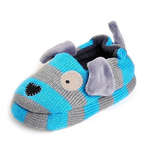 Pictures of Beeliss Toddler Boys Slippers Cartoon Puppy Crochet 1
