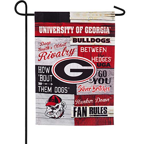 (Team Sports America Linen Fan Rules University of Georgia Garden Flag)