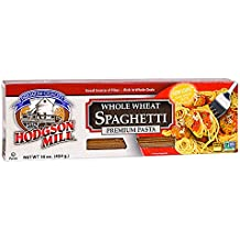 Hodgson Mill Whole Wheat Spaghetti, 16-Ounce (Pack of 12), Whole Grain Pasta, Wholesome and Delicious with Tomato Sauce, Health Conscious Substitute for Refined White Pasta