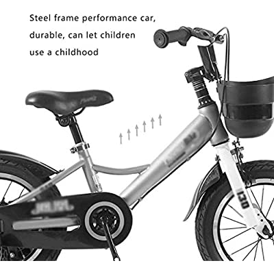 no logo NIAN Kids Bike Boys Girls Freestyle Bicycle with Training Wheels Kickstand Child's Street Dirt Bike Child Tricycle Portable Bicycle Single Speed Bicycle Student Suitable for Children: Home & Kitchen