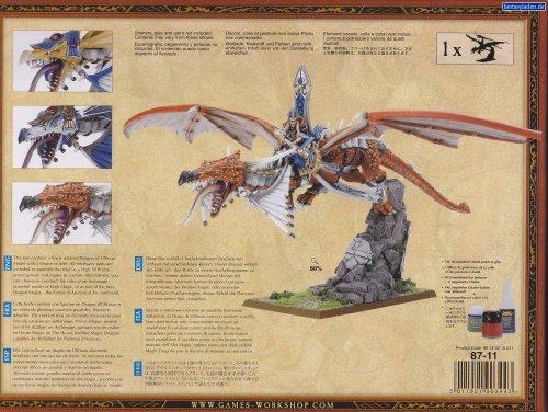 High Elf Lord on Dragon Warhammer Fantasy