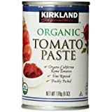 Kirkland Signature Organic Tomato Paste, 6-Ounce Cans, 12-Count
