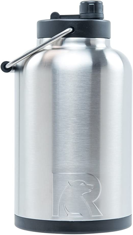 Amazon Com Rtic Jug 1 Gallon Stainless Vacuum Insulated Large Water Bottle With Handle Kitchen Dining