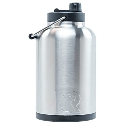 98543e8bdb Amazon.com: RTIC One Gallon Vacuum Insulated Jug, Stainless: Kitchen &  Dining