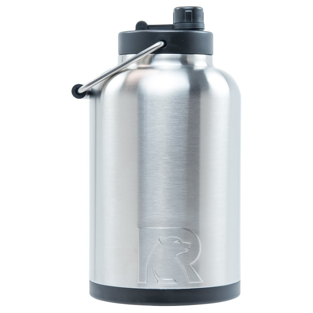 RTIC Double Wall Vacuum Insulated Stainless Steel Jug (Stainless Steel, One Gallon) by RTIC