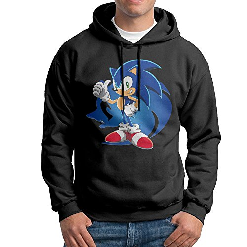 [Sonic The Hedgehog Men 100% Cotton Hooded Sweatshirt] (Sonic The Hedgehog Tails Costumes)