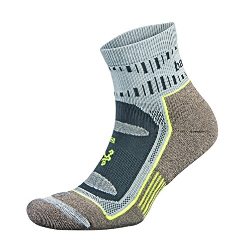 Balega Blister Resist Quarter Socks For Men and Women (1 Pair), Mink/Grey, Large (Best Trail Running Socks)