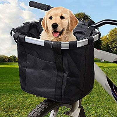 Cat Basket Bicycle Basket Folding Detachable Cycling Bag Easy Install Quick...