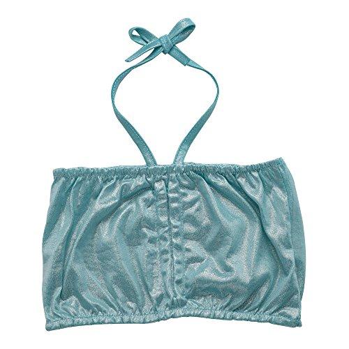 JFEELE Kids Little Girls 2 Piece Swimsuit with Mermaid Tail Swimwear Bikini Set - 4-5T,Blue by JFEELE (Image #1)