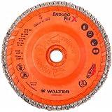 "Walter Enduro-Flex Flap Disc, 4-1/2"" diameter, 80 grit, Type 29, 5/8""-11 Thread Size, Trimmable wood fiber Backing, Zirconia Alumina (Pack of 10)"
