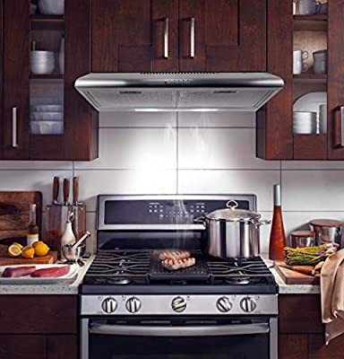 Cosmo COS-5MU36 Under Cabinet Range Hood in Stainless Steel with 200 CFM