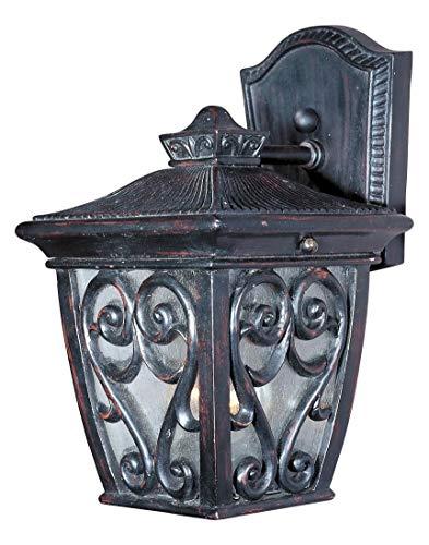 Newbury Traditional 1 Light - One Light Oriental Bronze Seedy Glass Wall Lantern