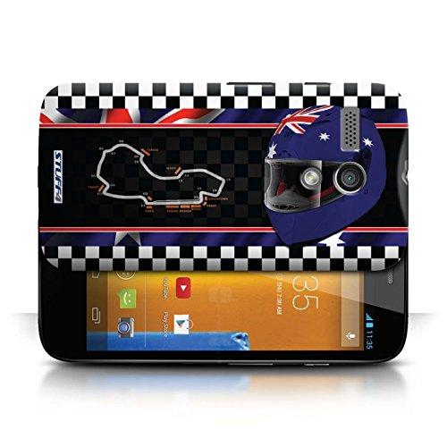 Etui / Coque pour Motorola MOTO G (2013) / Australie/Melbourne conception / Collection de F1 Piste Drapeau