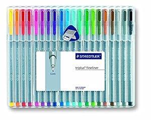 Staedtler 334 SB20A603 Triplus Fineliner Pens (20 Pack), Multicolor