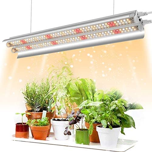 Garpsen T5 LED Grow Light, 2020 Full Spectrum 2FT Grow Lights for Indoor Plants, 96 LEDs 660nm 3000K 5000K Plant Grow Lamp with Reflector Daisy Chain Design for Seeding Greenhouse Grow Shelves