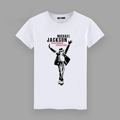 CWHao Tendencia Europea Y Americana de Los Hombres Camiseta de la Personalidad de la Moda de Los Hombres de Impresión de la Camiseta de Moda de Manga Corta Camiseta, Blanco, s: Amazon.es: