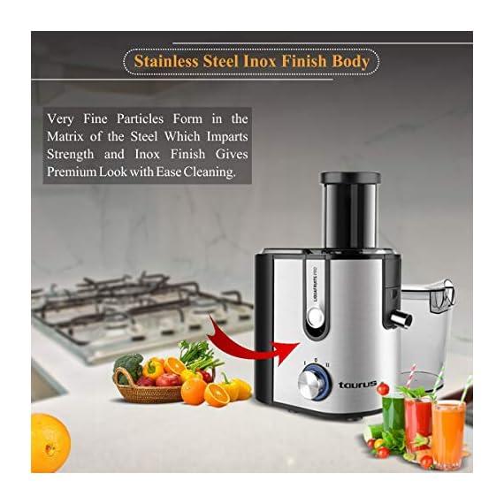 Taurus Licquafruits Pro 800-Watt Juice Extractor (Silver/Black) 3
