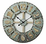 "Concepts Big Wall Clock Big Numerals Metal Features Grey Cool Color Amazing Decor Style 27"" Inches Review"