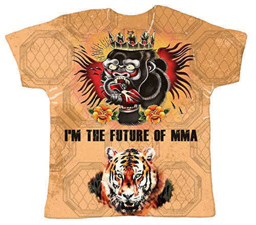 Baby Cage Fighter Octagon T-Shirt, I'm The Future of MMA, Subli Child's Top 2-3yr White ()