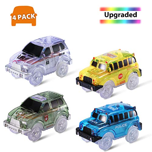 Magic Tracks Cars with 1 Screwdriver, 4 Pack Race Track Toys