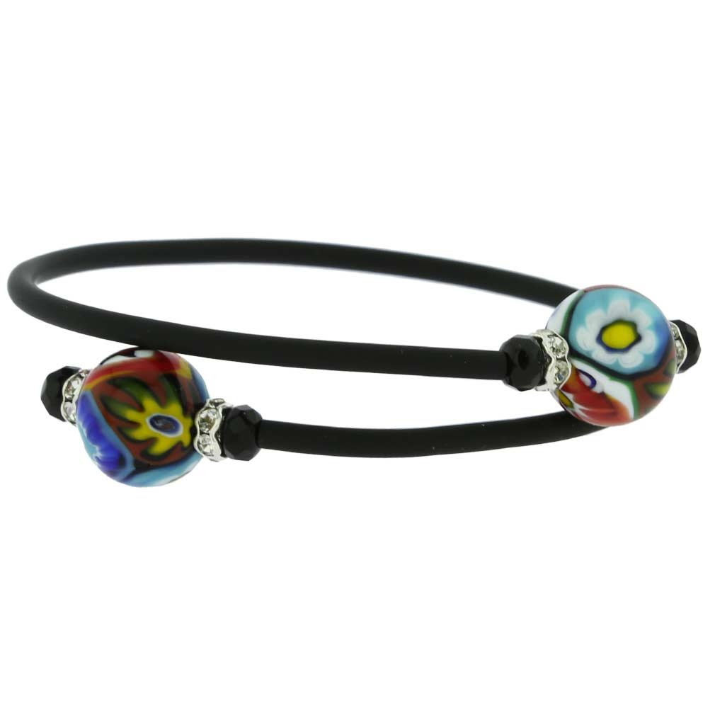 GlassOfVenice Murano Glass Venetian Glamour Bracelet - Millefiori