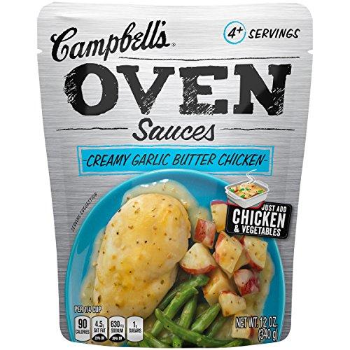 Campbell's Oven Sauces, Creamy Garlic Butter Chicken, 12 Ounce (Pack of (Garlic Chicken)