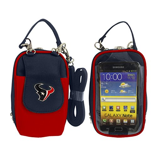Charm14 NFL Houston Texans Women's Crossbody Cell Phone Purse XL -Fits All Phones by Little ()