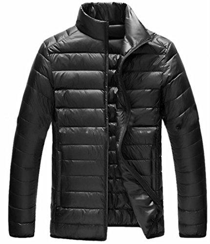 Pocket Jackets Padded uk Classic Fly Collar Down Puffer Year Black Men Stand B4wZFa