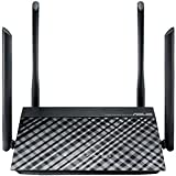ASUS RT-AC1200 Router Inalámbrico, Dual Band 2.4 GHz/5 GHz, 4 x External Antenna, WAN, 4 x LAN