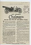 1911 Chalmers Model 30 Detroit MI Auto Ad Western Union Telegraph Co