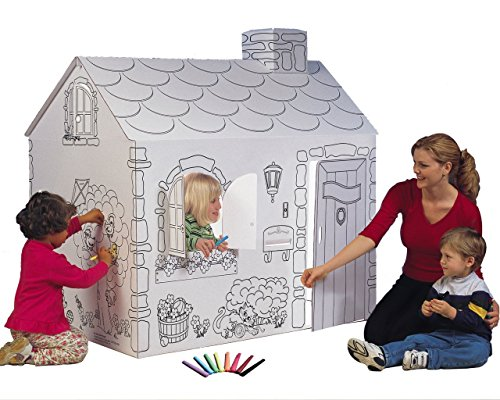 Cardboard Playhouse (My Very Own House Coloring Playhouse,)