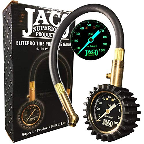 (JACO ElitePro Tire Pressure Gauge - 100 PSI)