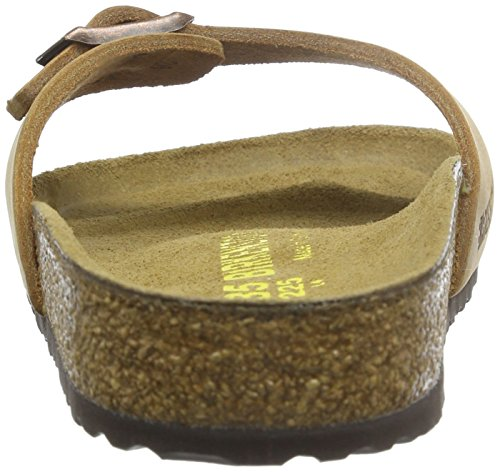 Birkenstock Madrid - Sandalias de pala de cuero suave unisex Marrón (Antik Braun)