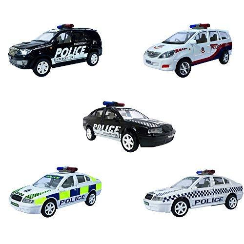 Jack Royal Plastic Police Toy Vehicles Kit   Set of 5