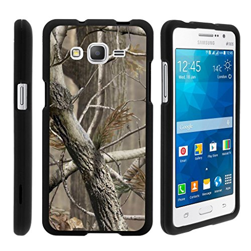 MINITURTLE Case Compatible w/ Miniturtle [Samsung Galaxy Grand Prime case, Grand Prime Cover] [Snap Shell] 2 Piece Hard Plastic Case Hunter Camouflage
