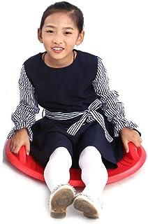Byjia Luge à Neige en Forme de Disque, Luge d'hiver Flexible en Soucoupe Volante pour Enfants et Adultes