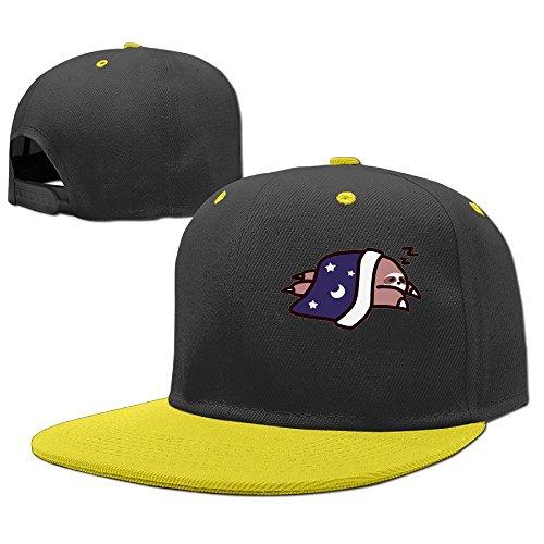 Guangzhou Unisex 1Sleepy Sloth Men's&Women's Cotton Denim Baseball Cap Adjustable Snapback Hip Hop Cap Hats Yellow (Andy Irons Hat)