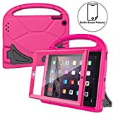 AVAWO Kids Case Built-in Screen Protector for iPad 2 3 4 - Shockproof Handle Stand Kids Friendly Compatible with iPad 2nd 3rd 4th Generation (Rose)